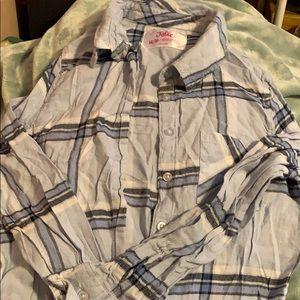 Justice plaid shirt